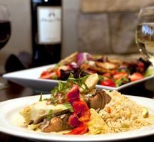 Shrimp-dinner-wine