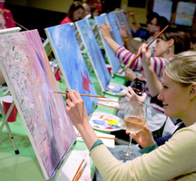 Paint-nite-lady-drink